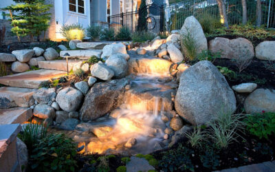 Landscaping Around a Waterfall
